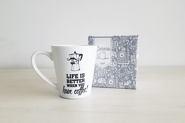Imagem do CANECA CÔNICA - LIFE IS BETTER WHEN YOU HAVE COFFEE | UATT?