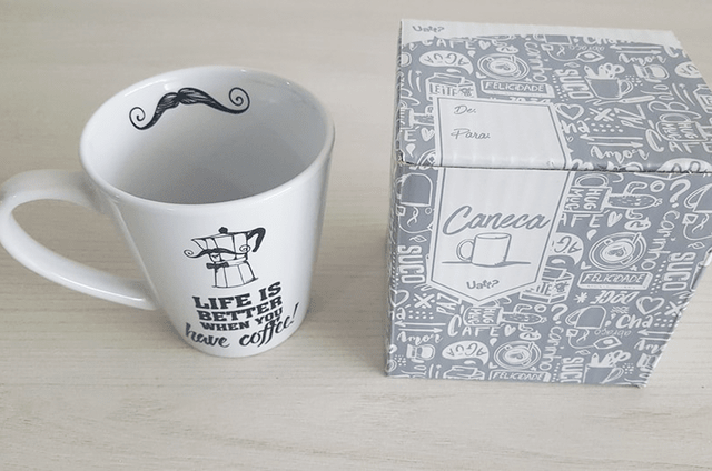 CANECA CÔNICA - LIFE IS BETTER WHEN YOU HAVE COFFEE | UATT? - loja online