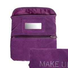 NECESSARIE SHINY MAKE UP ROXA EM VELUDO - URBAN - 20X14 CM - comprar online