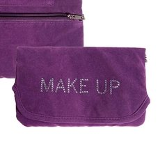 NECESSARIE SHINY MAKE UP ROXA EM VELUDO - URBAN - 20X14 CM na internet