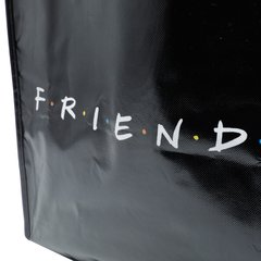SACOLA PP MARKET WB FRIENDS LOGO AND PHRASES PRETO 40x15x40 cm na internet