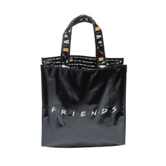 SACOLA PP MARKET WB FRIENDS LOGO AND PHRASES PRETO 40x15x40 cm