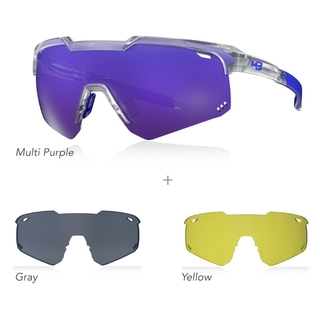 Óculos HB SHIELD EVO Road KIT 03 - Purple/Gray/Yellow
