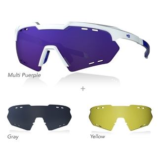 Óculos HB SHIELD COMPACT Road KIT 03 - Purple/Gray/Yellow