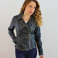 106 Biker jacket with quilted in sleeves - Silvia y Mario