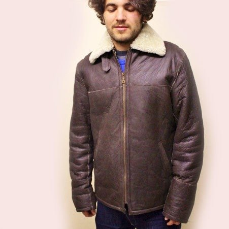 Diesel Shearling jacket chocolate