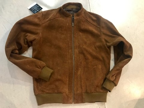 Carpincho Bomber jacket with mandarin collar