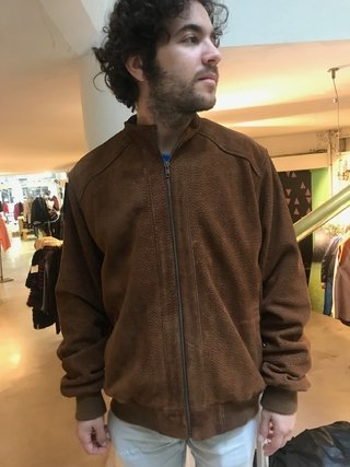 Carpincho Bomber jacket with mandarin collar - Silvia y Mario