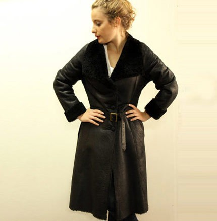 Scarlett long shearling coat