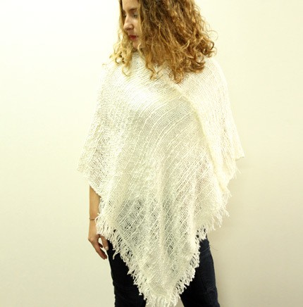 PONCHO (hand made in telar)