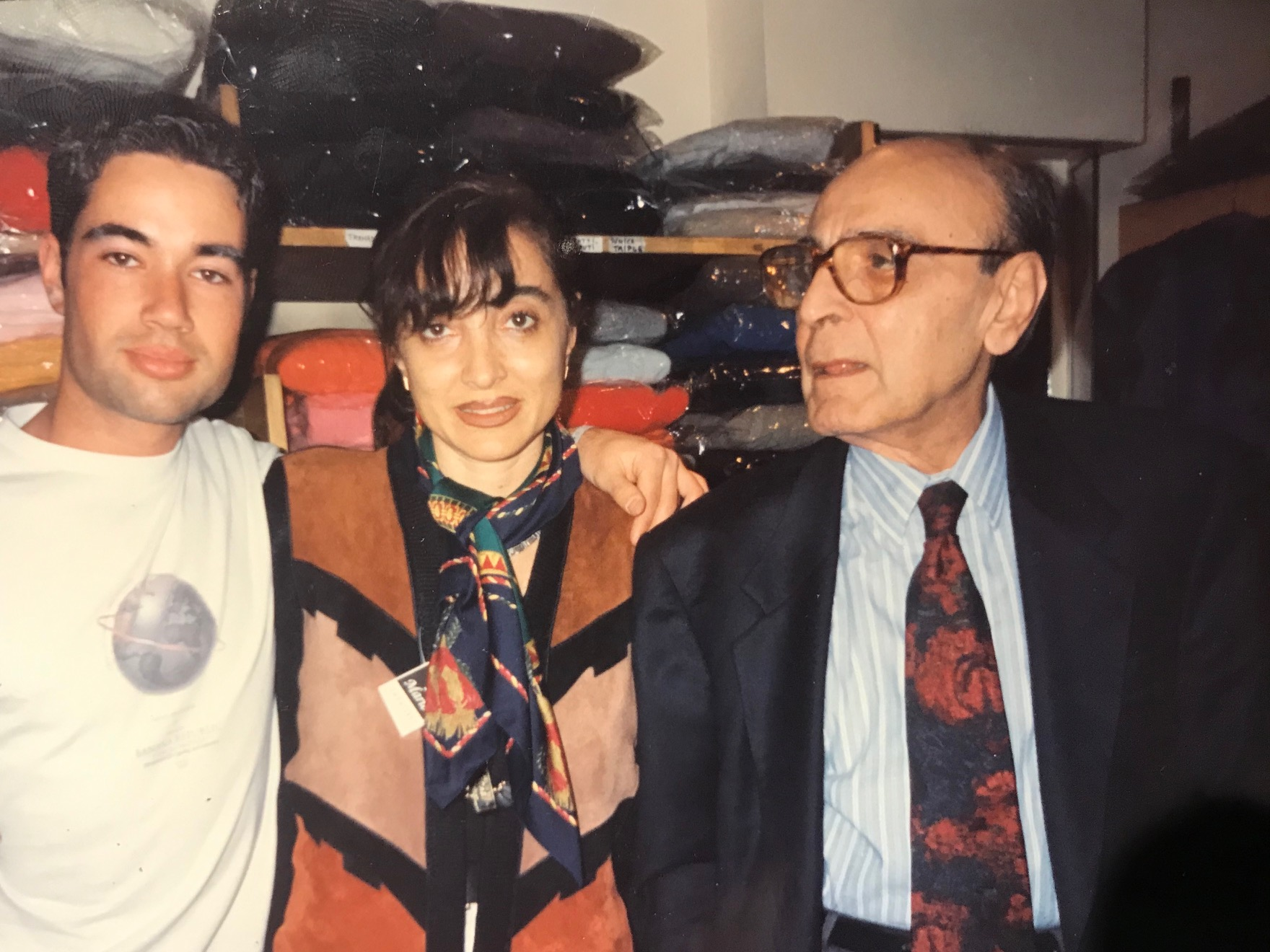 Federico, Silvia and ramon, Silvias father in the 90´s