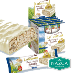 Lulemuu Barras De Arroz 12 Gr - chocolate blanco