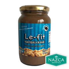 MANTEQUILLA DE MANI CHOCOLATE LE-FIT X 400 GR