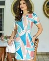 Vestido Williana  - Estampado com Azul - M - buy online