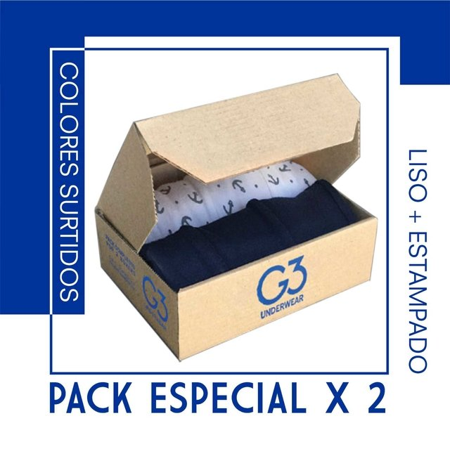 PACK ESPECIAL x 2 / LISO + ESTAMPADO / ART 3600