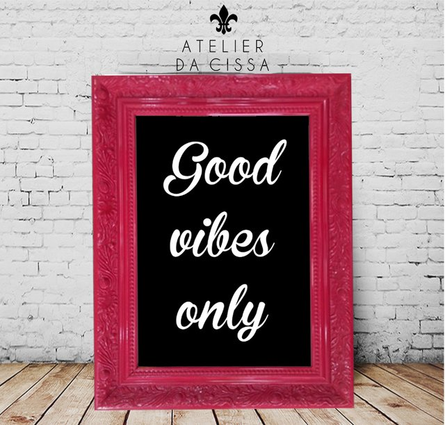 -- Good Vibes Only (Fundo Preto)  -- A partir de