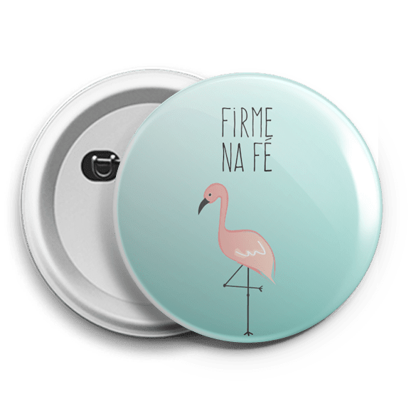 botton flamingo firme na fé bt17 alleluia store