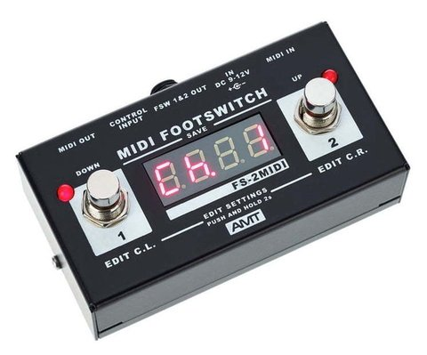 Pedal AMT FS2 M Midi Footswitch - Kairon Music Srl