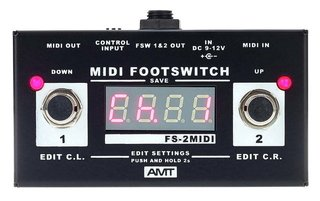 Pedal AMT FS2 M Midi Footswitch