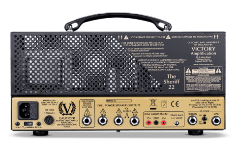 Cabezal Valvular Victory Amps Sheriff 22 22 Watts - comprar online