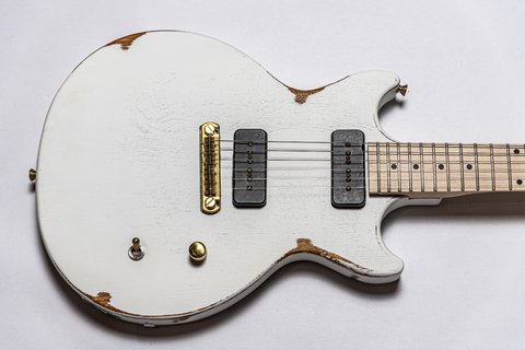 Guitarra Slick Guitars SL60m White Melody Maker - comprar online
