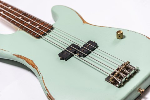 Bajo Slick Guitars SLPB Surf Green Precision en internet
