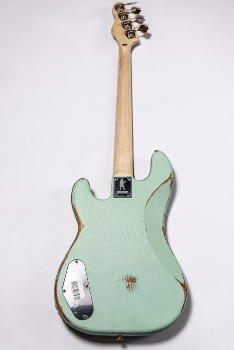 Bajo Slick Guitars SLPB Surf Green Precision - Kairon Music Srl