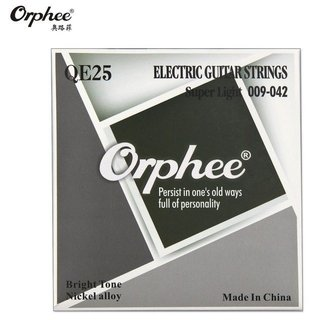 Encordado Orphee Qe25 .009-42 Nickel Para Guitarra Electrica