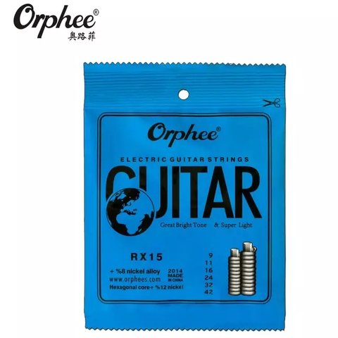 Encordado Orphee RX15 Nickel Para Guitarra Eléctrica .009-42
