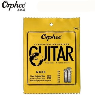 Encordado Orphee NX36 Nylon Para Guitarra Clásica Tension Normal