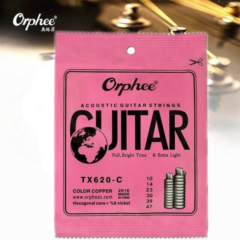 Encordado Orphee Tx620 C Color 10-47 Para Guitarra Acústica
