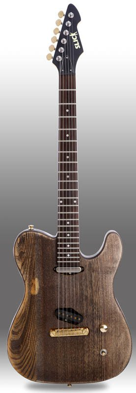 Guitarra Slick Guitars SL50 Brown Woodgrain Telectaser