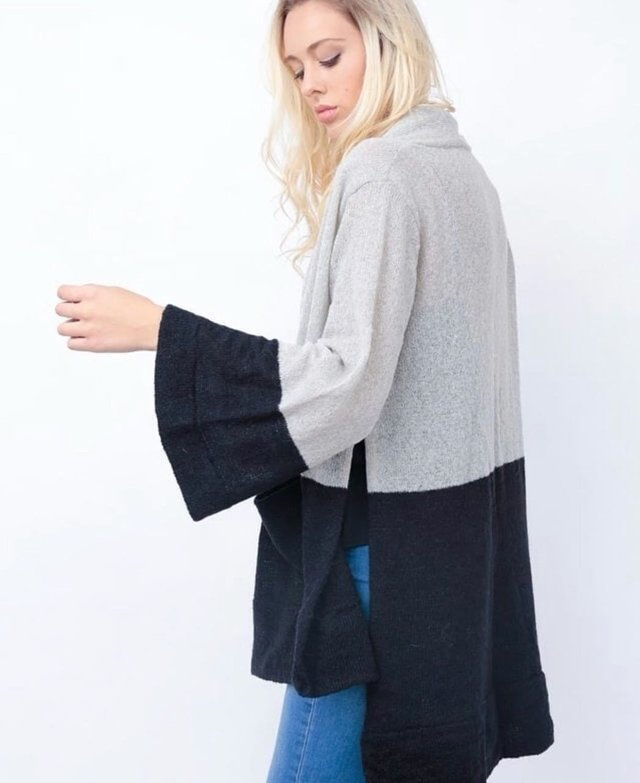 SWEATER AMBER - GRIS & NEGRO