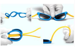 Óculos de Sol Haste Flexível Preto Vermelho - Lente UV 400 polarizada -  comprar online 9d73a9bfc3