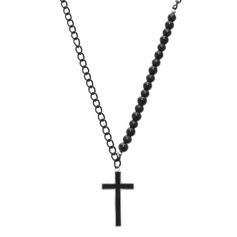 COLLAR CROSS BLACK