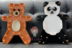 Oso Panda - en Madera y luces led a pilas - Petit Lupe
