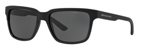 Lentes de Sol Rectangular Negro Armani Exchange