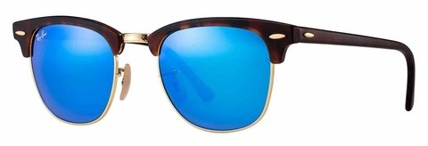 Lentes Ray-Ban Clubmaster Habana Blue Flash RB3016 114517