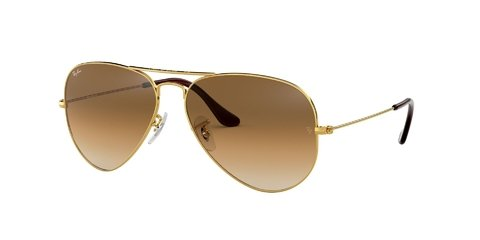 Lentes de Sol Aviator Gold Brown Ray-Ban