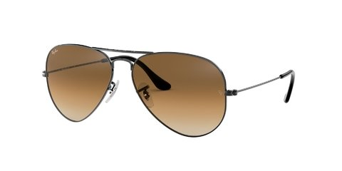 Lentes de Sol Aviator Gunmetal Brown Ray-Ban