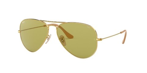 Lentes de Sol Aviator Evolve Gold Green Ray-Ban