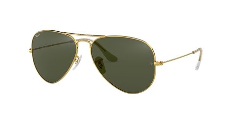 Lentes de Sol Aviator Gold Green G-15 Ray-Ban