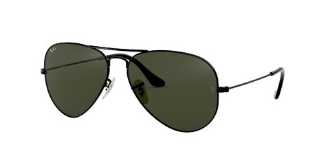 Lentes de Sol Aviator Black Green G-15 Ray-Ban