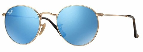Lentes Ray-Ban Round Flat Blue Flash Gradient RB3447 001/9O