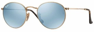 Lentes Ray-Ban Round Flat Gold Silver Flash