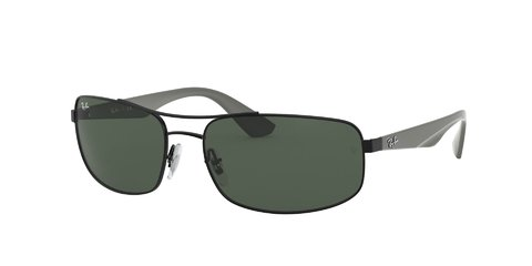 Lentes de Sol Rectangular Green Ray-Ban
