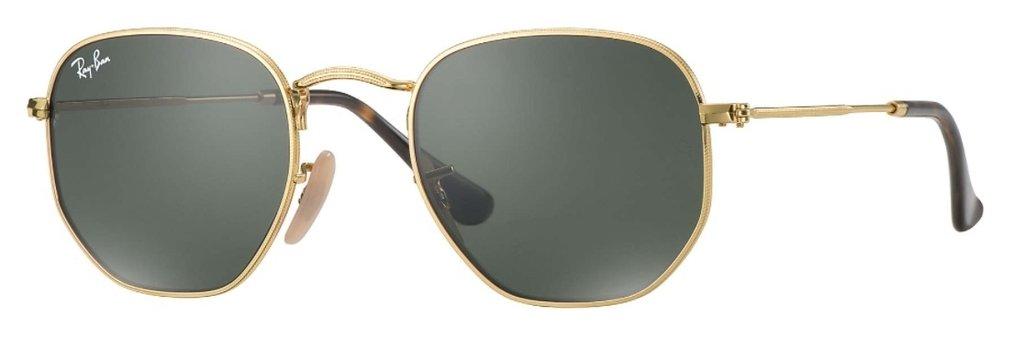 9c70c6d93a8 Lentes Ray-Ban Hexagonal Flat Gold Green
