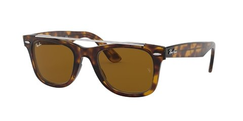 Lentes de Sol Wayfarer Double Bridge Havana Ray-Ban