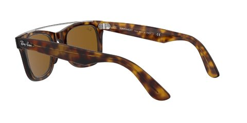 Lentes de Sol Wayfarer Double Bridge Havana Ray-Ban - Lens Chile