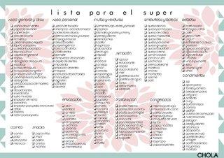 comprar lista de supermercado en chola design blanco filtrado por